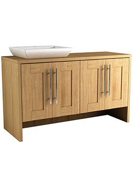 Related Timber Modular 1200 Freestanding 4 Door Unit With Elegant Ceramic Basin