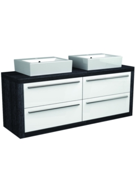 Related I-Line Modular 1700mm Twin Double Drawer Unit With 2 Ceramic Basin