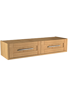 Related Timber Modular 1600mm Wall Hung Twin Single Drawer Unit