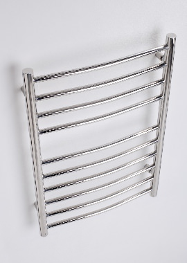 Related Kartell Orlando Curved 600 x 1200mm Stainless Steel Towel Rail