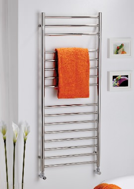 Related Kartell Orlando Straight 500 x 1200mm Stainless Steel Towel Rail