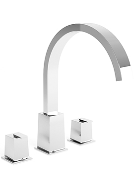 Related Utopia Paleto Three Hole Deck Mounted Basin Mixer Tap