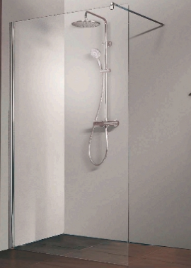 Related HSK Walk In Free Straight Shower Panel 900 x 2000mm