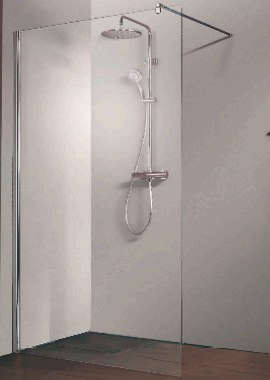 Related HSK Walk In Free Straight Shower Panel 1100 x 2000mm