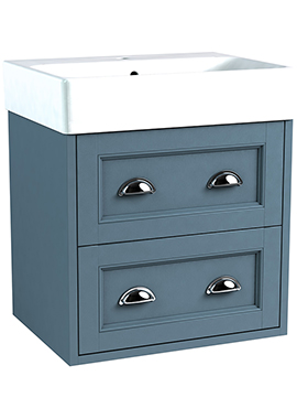 Related Roseberry Modular 600mm Wall Hung Unit With Ceramic Basin
