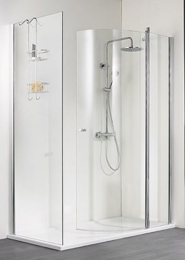 Related HSK Walk In Exklusiv In-Line Panel And Curved Door 1000 x 2000mm