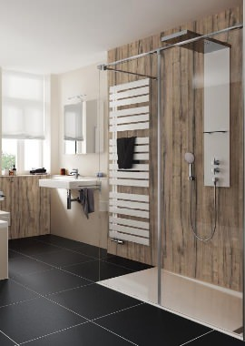 Related HSK Walk In Pro Concept 2 Elements Shower Panel 1600 x 2000mm