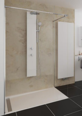 Related HSK Walk In Pro Concept 1 Elements Shower Panel 1600 x 2000mm