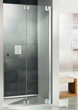 HSK K2P Recess Pivoting Bi Fold Shower Door 900 X 2000mm