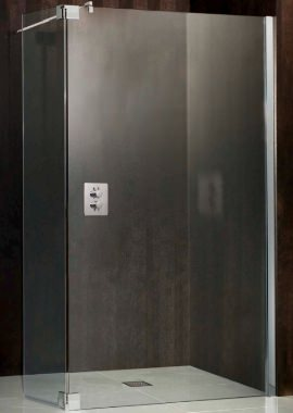 Related HSK Walk In Atelier 900mm Straight Shower Panel With 1 Return Flip Panel