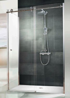 Related HSK Regency Single Slider Shower Door With Side Panel 1400 x 900mm