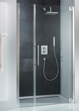 Related HSK K2P 1200mm Hinged Shower Door With Inline Panel For Recess