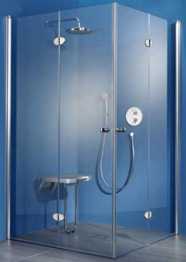 Related HSK Exklusiv Bi-fold Doors Corner Entry Shower Enclosure 1000 x 1000mm