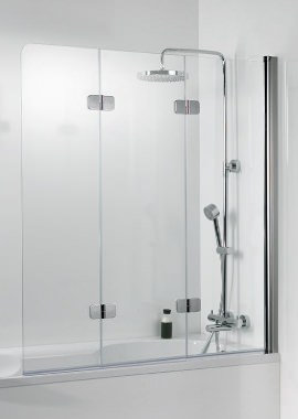Related HSK Premium Softcube 3 Panel Pivot Bath Screen 1140 x 1400mm