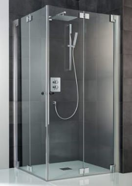 Related HSK K2P Pivoting Bi-fold Doors Corner Entry Shower Enclosure 900 x 900mm