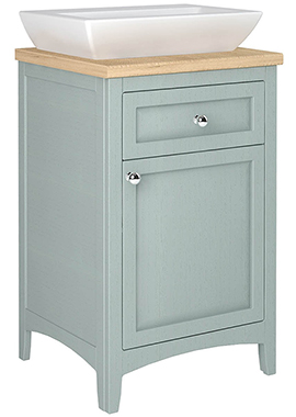 Related Downton 500mm Drawer Line Unit With Basin And Solid Surface Worktop