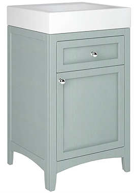 Related Downton 500mm Single Door And Drawer Unit With Ceramic Slabtop Basin
