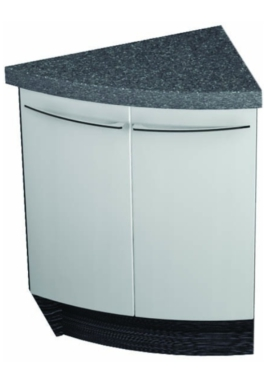 Related Utopia Symmetry Freestanding Corner 2 Door Unit With 50mm SS Worktop