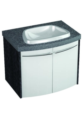Related Utopia Symmetry Wall Mounted Curved Unit With 28mm SS Worktop And Basin