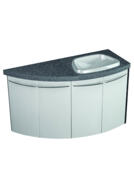 Related Symmetry Wall Mounted 4 Door Corner Unit With 50mm SS Worktop And Basin