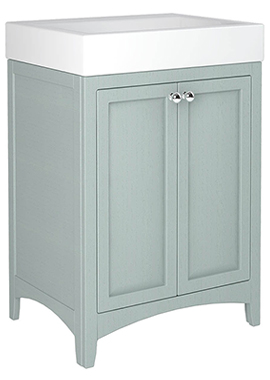Related Downton 600mm Double Door Unit With Ceramic Slabtop Basin