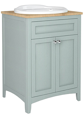Related Downton 600mm Vanity Unit With Drop-In Basin And Laminate Worktop