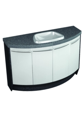 Related Utopia Symmetry Freestand 4 Door Unit With 50mm Laminate Worktop And Basin