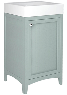 Related Downton 500mm Single Door Unit With Ceramic Slabtop Basin