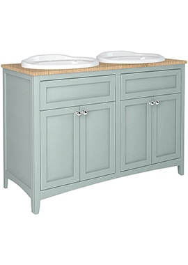 Related Downton 1200mm Vanity Unit With Twin Drop-In Basins And Laminate Worktop