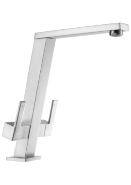 Related 1810 Company Pendenza Angle Spout Kitchen Sink Mixer Tap Brushed Steel