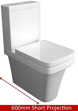 Related QX Aston Close Coupled Back-To-Wall Pan With Cistern And  Soft Close Seat