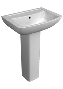 Related QX Eden 550 x 415mm Basin And Full Pedestal