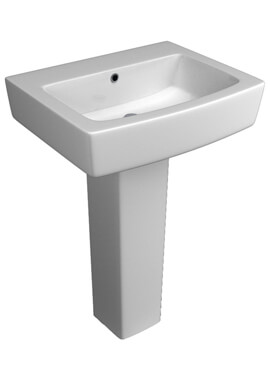 Related QX Montana 550 x 433mm Basin And Pedestal
