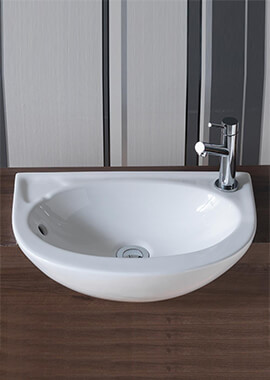 Related QX Opal Slim 450 x 305mm Semi-Recessed Basin