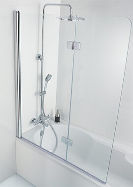 Related HSK Premium Softcube 2 Panel Pivot Bath Screen 900 x 1400mm