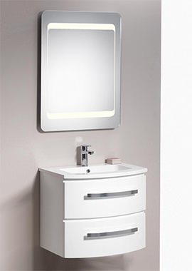 Related QX Opal 600mm 2-Drawer Wall-Hung Base Unit - Gloss White