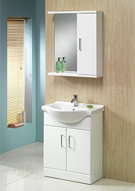 Related QX Richmond 600mm 2-Door Base Unit - Gloss White