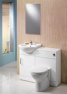 Related QX Richmond 900mm Combination Unit - Gloss White