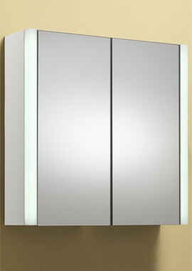 Related QX Monica 2 Door Mirrored Cabinet 600mm With Integrated Lights