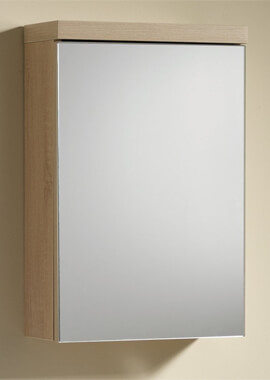 Related QX Eden 400mm 1 Door Mirrored Cabinet - Textured Oak