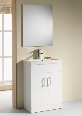Related QX Eden 600mm 2-Door Floor Standing Base Unit - Gloss White