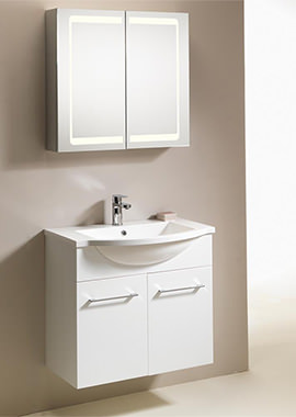 Related QX Eden 700mm 2-Door Wall-Hung Base Unit - Gloss White