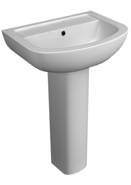 Related QX Alaska 550 x 415mm Basin And  Pedestal