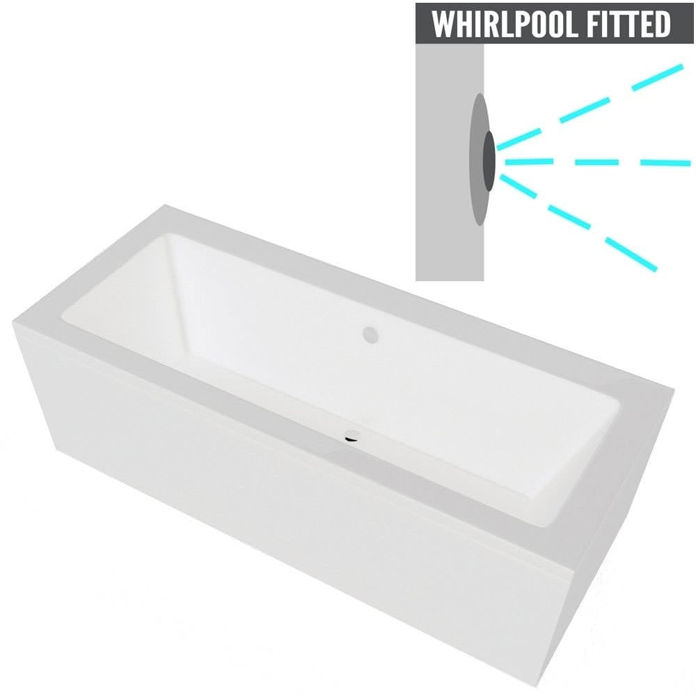 Related QX Nevada 1700 x 800mm Bath With Option 2 Whirlpool