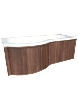 Related QX 700mm Wooden End Panel Only - Dark Walnut