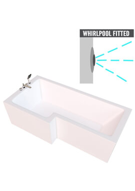Related QX Vermont 1700 x 750mm Left Hand With Option 5 Whirlpool