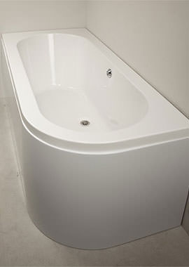 Related QX Kansas 1700 x 725mm Offset Bath With Option 1 Whirlpool - Left Hand