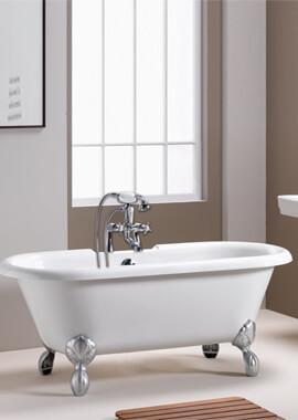 Related QX Romeo 1500 x 750 Traditional Freestanding Bath