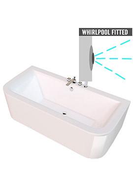 Related QX Kansas 1700 x 750mm Bath With Option 2 Whirlpool