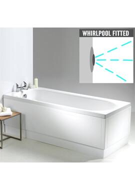 Related QX Ebony 1700 x 700mm Shower Bath With Option 2 Whirlpool System